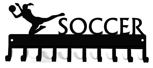The Metal Peddler Soccer Goalie (Female) Medal Rack & Ribbon Display