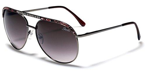 Rhinestone Giselle Diamond Women's Aviator - Aviator Sunglasses Giselle