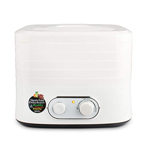 Flower Power Knobs - Food Dehydrator Fruit Meat Vegetables Dryer 5 Tray Digital Dehydrator Thermostat Knob Control White