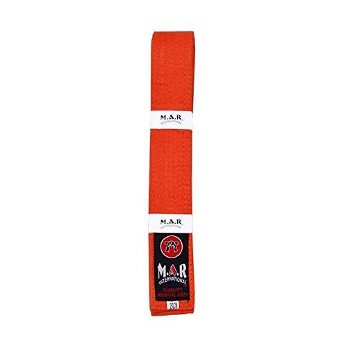 MAR Orange Plain Coloured Belt - Karate/Judo/Taekwondo M.A.R International Ltd