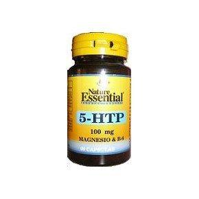 Nature Essential Triptofano 5-Htp 100mg, Magnesio y Vitamina B6-60 Comprimidos
