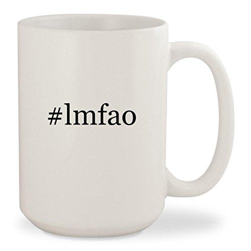 #lmfao - White Hashtag 15oz Ceramic Coffee Mug (Lmfao Robot Head Costume)