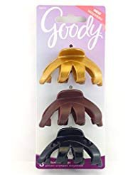 Goody Classics Hair Claw Clips, Medium, Assorted Dark Romanc