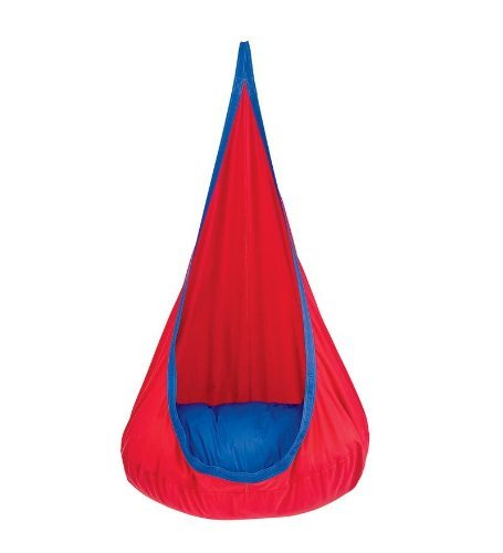 Red Hugglepod Deluxe Hanging Cocoon Chair Hammock Nest
