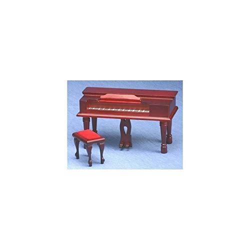 Classics Dollhouse Miniature Mahogany Spinet Piano