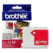 Genuine OEM brand name BROTHER DCP130C/MFC240C Magenta Inkjet Cartridge (400 Yield) LC51M - Genuine Oem Fax