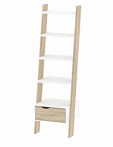Tvilum 7538549ak Diana Bookcase with with 1 Drawer, White Oak