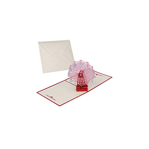 Greeting Cards3D Pop Up Cards Valentine Lover Happy Birthday Anniversary Greeting Cards for Birthday Valentine Holiday,as - Bar Mitzvah Chai