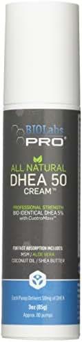 All Natural Bioidentical 50mg Dhea Cream - Two Month Supply - Dehydroepiandrosterone + Organic Fenugreek, Tribulus Terrestris, Maca Root & Hgw