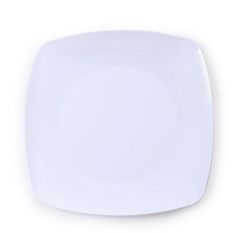 Fineline Settings Renaissance 5.5-Inch White Rounded Square China Plate, 120-Piece