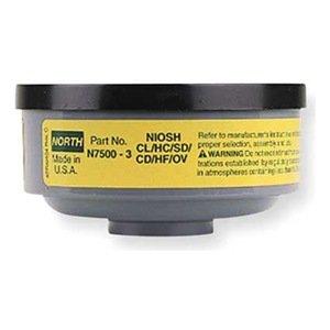 North N75003 OV//AG Organic Vapor Acid Gas Cartgridge 1 Pair
