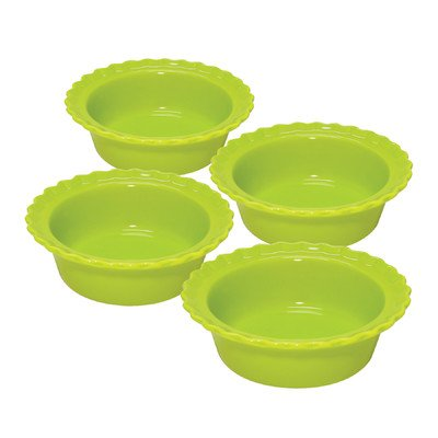 "UPC 088818090864, 5"" Individual Pie Dish (Set of 4) Color: Green"