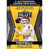 2018 LEAF NFL DRAFT Series Factory Sealed Blaster Box of Packs with 2 GUARANTEED Autographed Cards per box! One of the First 2018 Football Products on the market! from Unopened Box of Packs