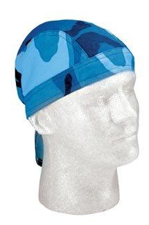 Sky Blue Camo Head Wrap Do-rag (2 Pack)