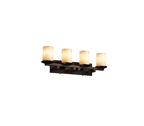 Justice Design Group CLD-8774-10-CROM Clouds Collection Dakota 4-Light Straight Bath Bar Light Fixture