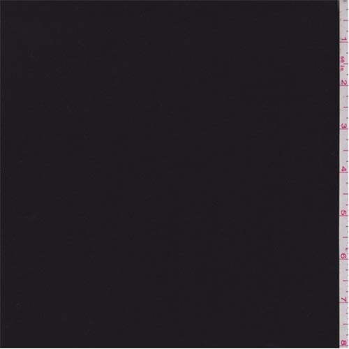 Fine Gabardine - Midnight Black Tropical Wool Gabardine Suiting, Fabric by The Yard