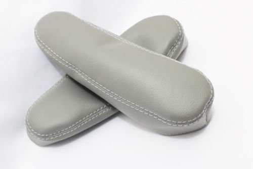 Fits 2003-2009 Lexus RX300 Real Gray Leather Seat Armrest Covers (Skin Only) Kar Designers