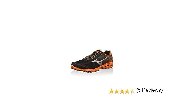 Mizuno Zapatillas de Running Wave Kazan 2 Negro/Plateado/Naranja EU 39 (US 7): Amazon.es: Zapatos y complementos