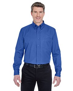 (Ultraclub Mens Whisper Twill Shirt 8975 -Royal XL)