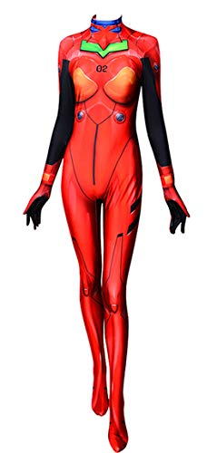 ourworth Asuka Evangelion Plugsuit Girl Cosplay Costume (X-Large) Red]()