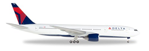 Herpa 529839 Delta Air Lines Boeing 777-200 1:500 Scale REG#N866DA Diecast Display Model