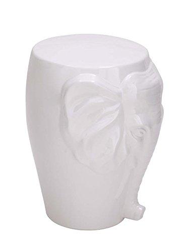 Deco 79 Ceramic Elephant Stool, 12 by 18-Inch