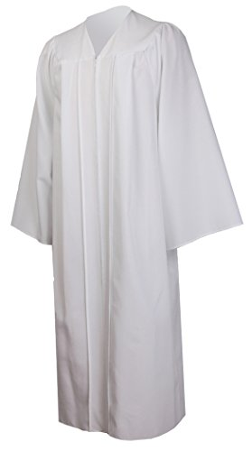 Ivyrobes Unisex Adults Choir Robes confirmation Robe For baptisms Large White 51