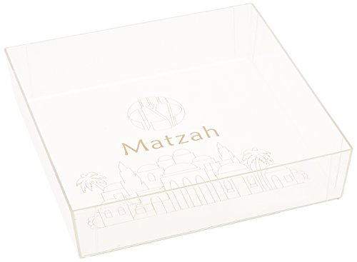 Plate Matzah Passover (Acrylic Square Matzah Tray)