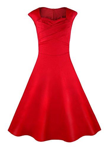 Killreal-Womens-Cap-Sleeve-A-Line-Vintage-Retro-Bridesmaid-Cocktail-Party-Dress