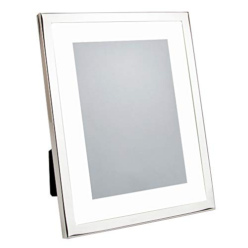Happy Homewares Rectangular Silver Plated Matted Picture Frame to Hold 8