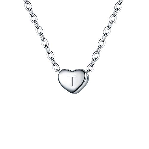 BriLove 925 Sterling Silver Tiny Initial Heart
