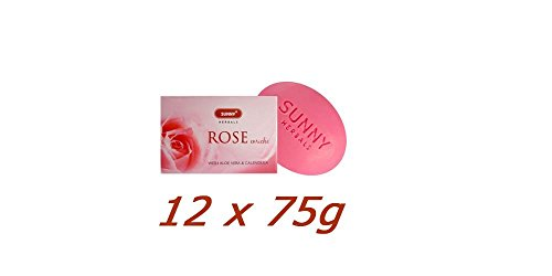 12-x-Sunny-Herbals-Rose-Enriched-With-Aloe-Vera-Calendula-75g-Pack-of-12