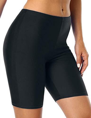 Firpearl Women UV Sport Board Shorts Swimsuit Bottom Capris US16 Black