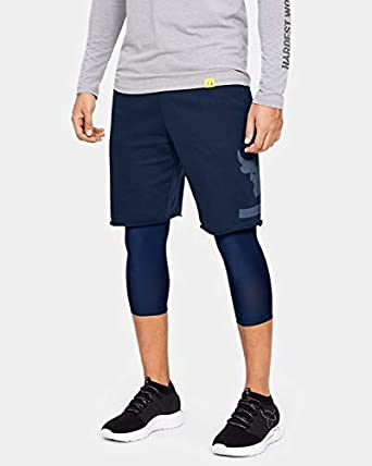 conductor Legítimo Sabor  Amazon.com: Under Armour Men's Project Rock Terry Shorts MD Navy: Clothing