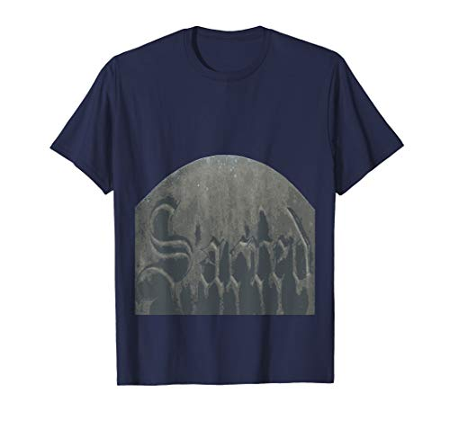 Sacred Gothic Text Halloween Gravestone  T-Shirt