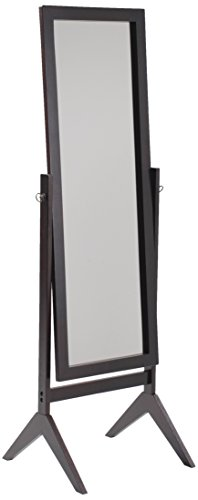 Crown Mark Espresso Finish Wooden Cheval Bedroom Floor Mirror (Mirror Swivel Rectangular)