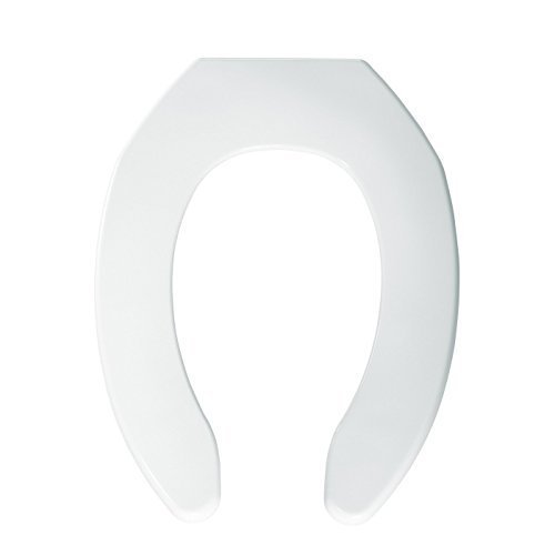 Bemis 7B1055TK 000 Elongated Open Front Plastic Toilet Seat without Cover, White