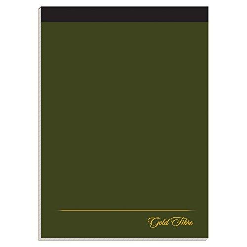 Ampad Gold Fibre Classic Planning Pad, Dark Green Cover, Quad Ruling, 80 Sheets per Pad (Ampad Gold Fibre Pads)