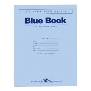 Bulk Exam Blue Books 8 Sheet/16 Page, Wide Margin 11''x8.5'': Roaring Spring 77517 (500 Exam Books)
