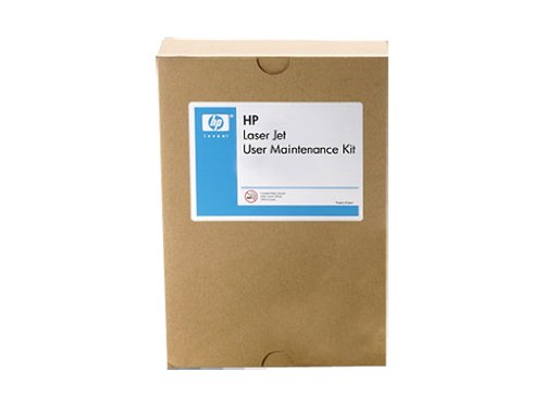 HP Q7833-67901 Maintenance kit (220 VAC) - Includes separation pad, pick-up rollers, pick-up and feed rollers, transfer roller, fuser for 220 VAC operation, gloves, tool (hook), and an instructions guide