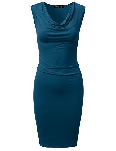 cowl neck prom dresses - 7