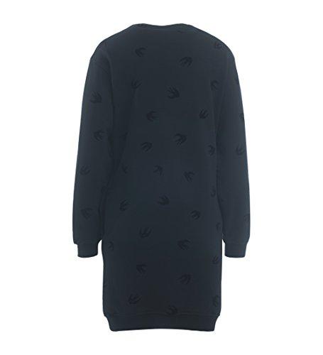 Muster Sweater Schwalben Schwarz Schwarz Alexander McQ Kleid McQueen mit SwfnCv