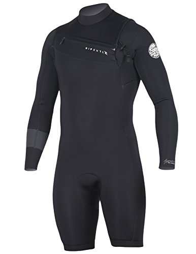 Rip Curl Aggrolite Long Sleeve 2/Chest Zip Spring Suit, Black/Black, Large