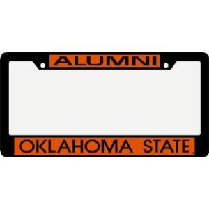 oklahoma state cowboys metal alumni inlaid acrylic license plate frame