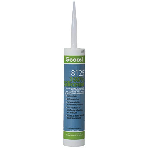 Geocel 8125 High Performance Acetoxy Cure (Carton of 12, Clear) by Geocel (Image #1)
