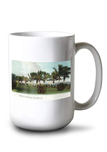 Lantern Press Miami, Florida - Hotel Royal Palm Grounds Scene (15oz White Ceramic Mug)
