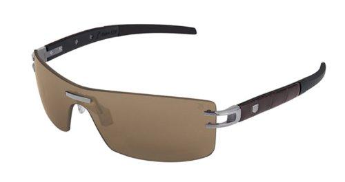 Tag Heuer L-Type LW 0451 Sunglasses Alligator Matte Brown / - Tag Sunglasses Type L Heuer