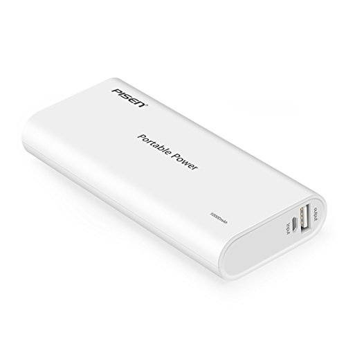 Pisen 10000mAh Power Bank, Portable Charger Universal USB Charger, External Battery Backup for iPhone 6, 7, iPad, Nintendo Switch, Samsung S7, Windows Phone