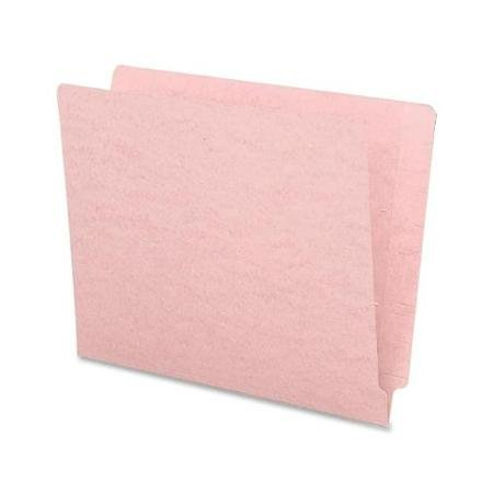 Smead 25610 Pink End Tab Colored File Folders With Reinforced Tab - Letter - 8.50'' X 11'' - 11 Pt. - Pink - 100 / Box (SMD25610)