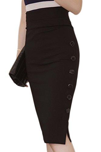 plus size pencil skirt with split - 2